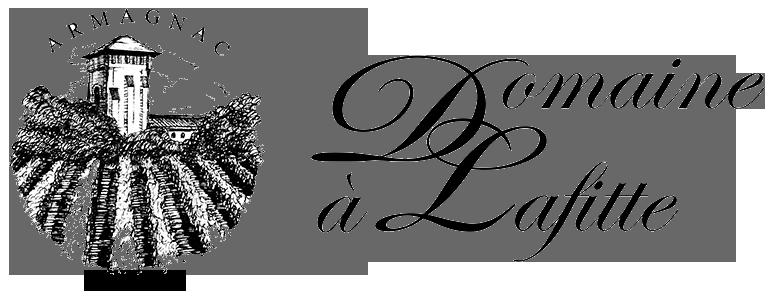 """Logo Domaine """"à Lafitte"""" transparent noir"""