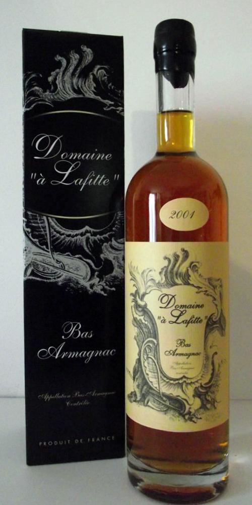 """Bottiglia Armagnac 2001 Domaine """"à Lafitte"""""""