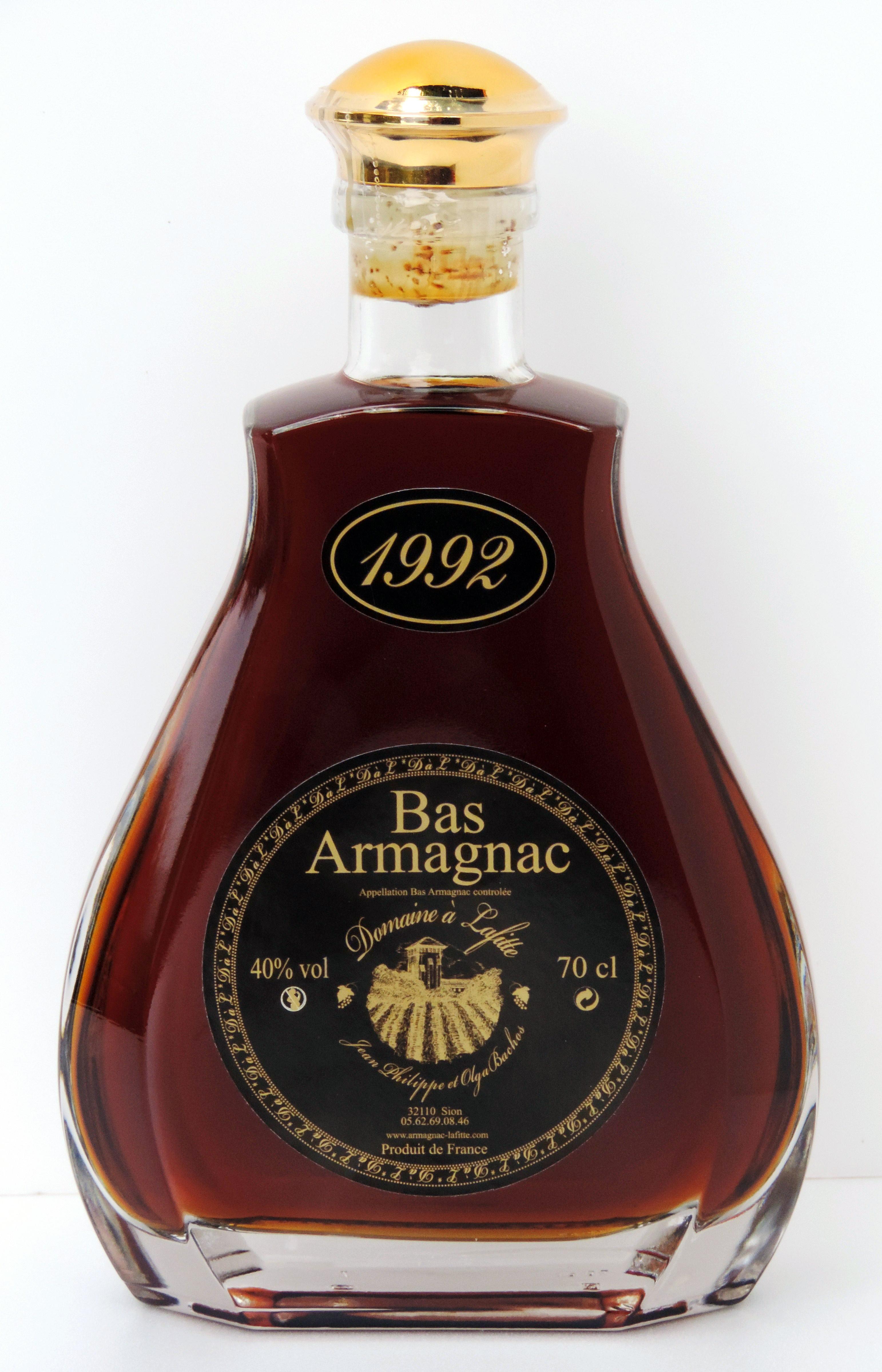 """Caraffa Armagnac 1992 Domaine """"à Lafitte"""""""